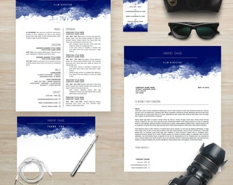 "Resume Template Package | CV Template + Cover Letter + Business Card + Thank You Note for MS Word | Instant Digital Download | The ""Vincent"""