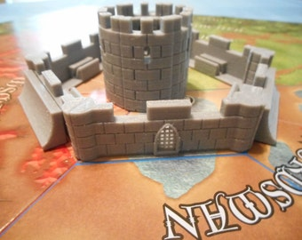 3D Printed Castle, 6 Towers, 6 Walls and 2 Fortification.