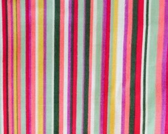 Multi -Color Bright Stripe  Cotton Fabric
