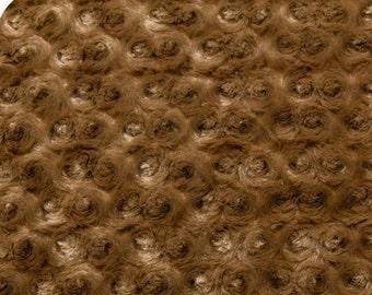 Shannon Fabrics Rose Cuddle® Caramel Minky Fabric REMNANTS