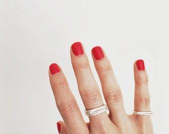 Fine Silver Square Rings