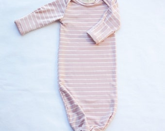 Baby Knotted Sleeper Newborn Gown
