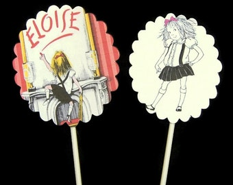 Cupcake Toppers Eloise at The Plaza,Eloise Birthday Party Decorations,Eloise At The Plaza Party,Eloise Party,Eloise Shower,Eloise Food Picks