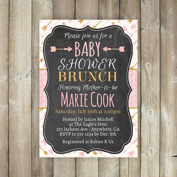 baby shower brunch invitation tribal baby shower brunch boho baby
