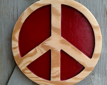 12 inch Peace Sign wall art
