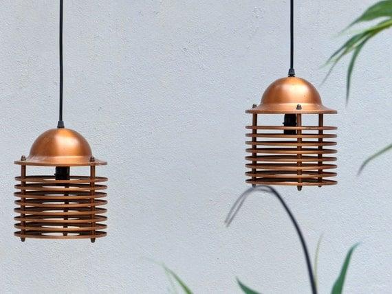 suspension scandinave vintage en cuivre copper pendant. Black Bedroom Furniture Sets. Home Design Ideas