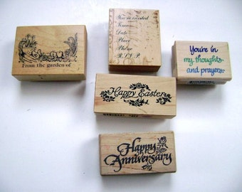 CLEARANCE:  Rubber Stamps card making scrapbooking, art, craft supplies, rubber stamp, scrapbooking, cards, tools, Easter, card