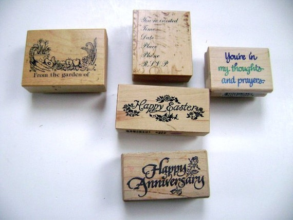 FREE SHIPPING: Rubber Stamps card making scrapbooking, art ...