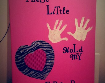 Custom made Canvas with your child's hand Print