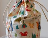 Personalised Waterproof Drawstring Bag/ Library Bag/ Laundry bag /Wet Bag/ Childcare Bag/ Swim Bag/ Beach Bag/ Nappy Bag - Tents