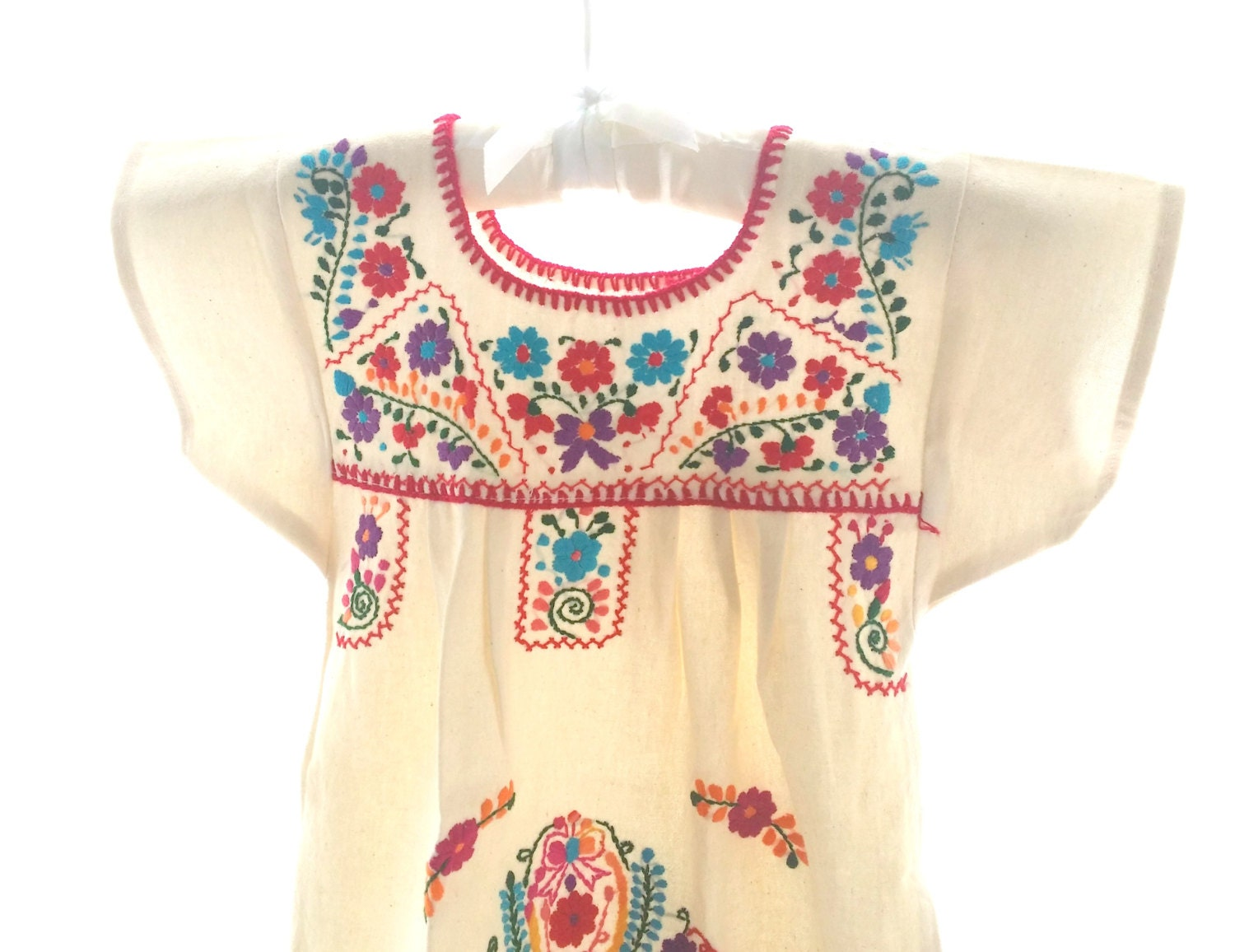 Handmade mexican embroidered baby dress by pathy on etsy