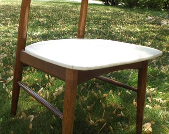 Danish Modern mid century atomic side chair by Baumiitter