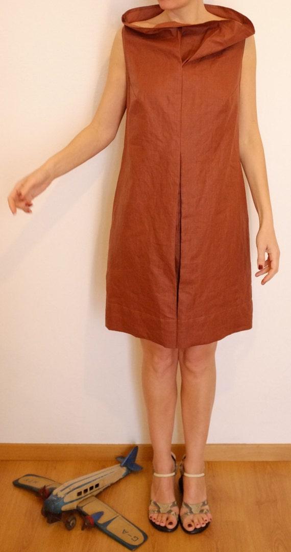 spesso Abito in Lino Abbigliamento Donna in Lino Vestito Rosso PS32