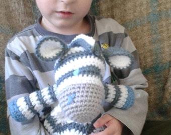 crochet zebra lovey blanket
