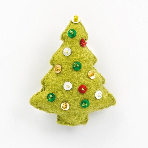 Christmas Tree Ornaments Etsy: Christmas Tree Ornament Pattern Handmade Home Decor