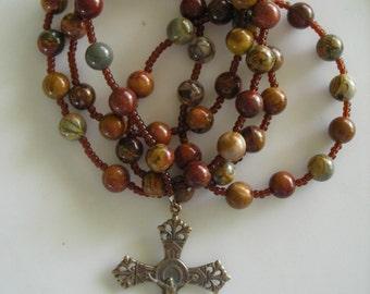 Catholic Rosary: Red Creek Jasper