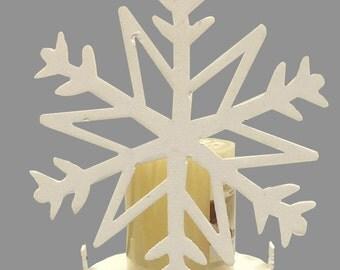 Metal Snowflake Candle Holder