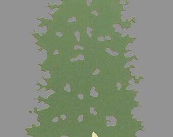 Metal Pine Tree Candle Holder