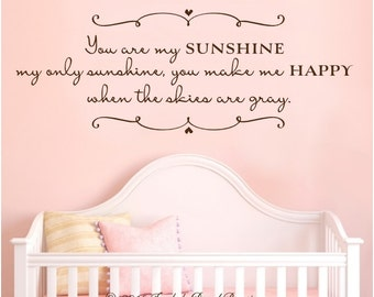 Happy Sun Wall Decal Etsy - Wall decals you are my sunshine