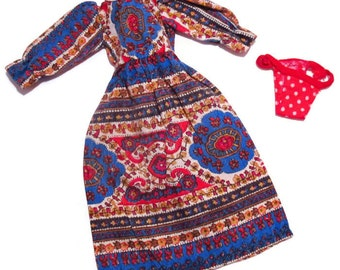 Vintage Kenner Blythe Doll original Pretty Paisley fashion outfit Dress and Underwear excellent (DM-17)