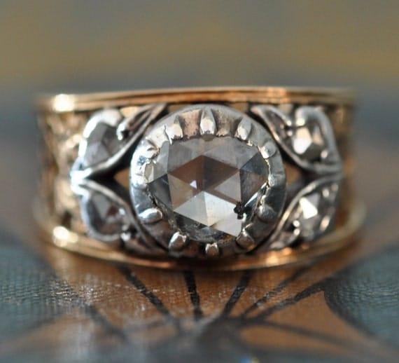 Unique Engagement Ring-Art Nouveau Engagement Ring-1800s