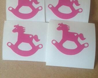 Set of 20 Vinyl Rocking Horse Decals
