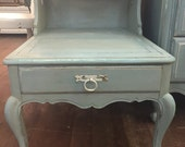 Vintage nightstand with heart cutout
