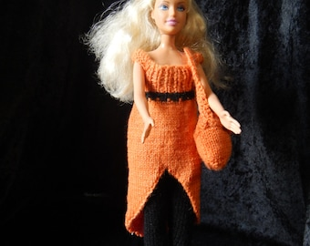 Hand Knitted Barbie Doll Outfit