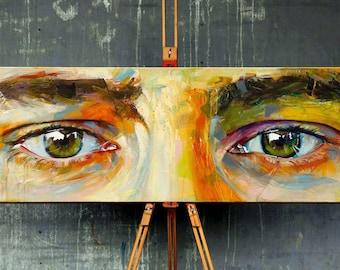 Original Acrylic Painting · Eyes · Custom Portrait