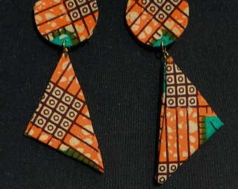 African Print Earrings  Ethnic Printed Fabric Jewellery ***( Make me an offer for this item)***