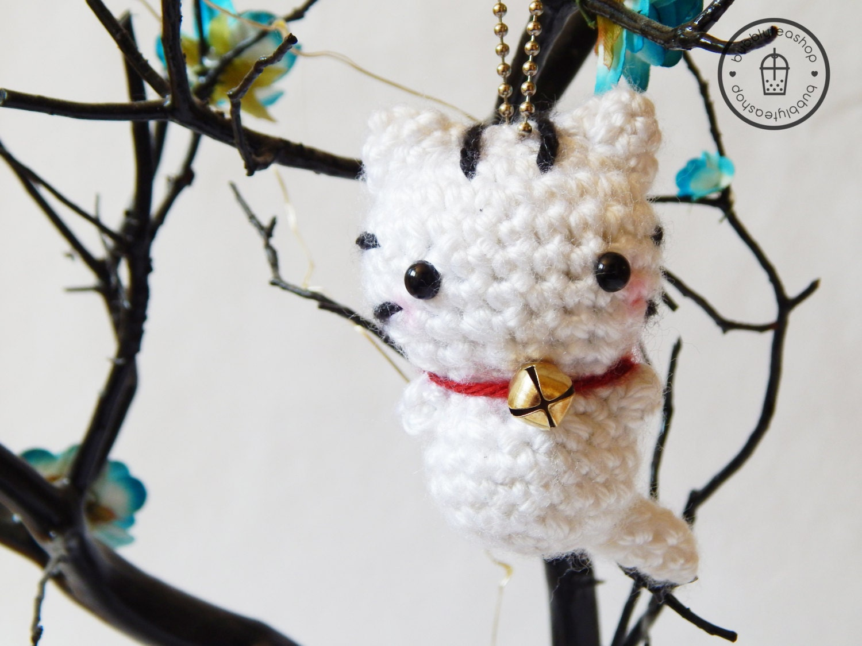 Amigurumi Kitty Mini : Mini Lucky Cat Amigurumi Lucky Cat Plush White by ...