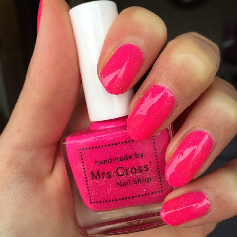 Neon Nail Polish Uk: Raa Raa Skirt 5ml Bright Pink Neon Nail Polish Handmade