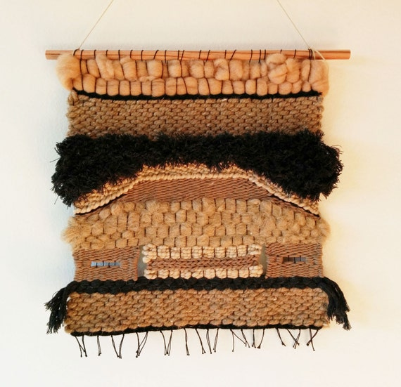 """SALE - Woven wall hanging / Vintage style weaving """"Set"""""""