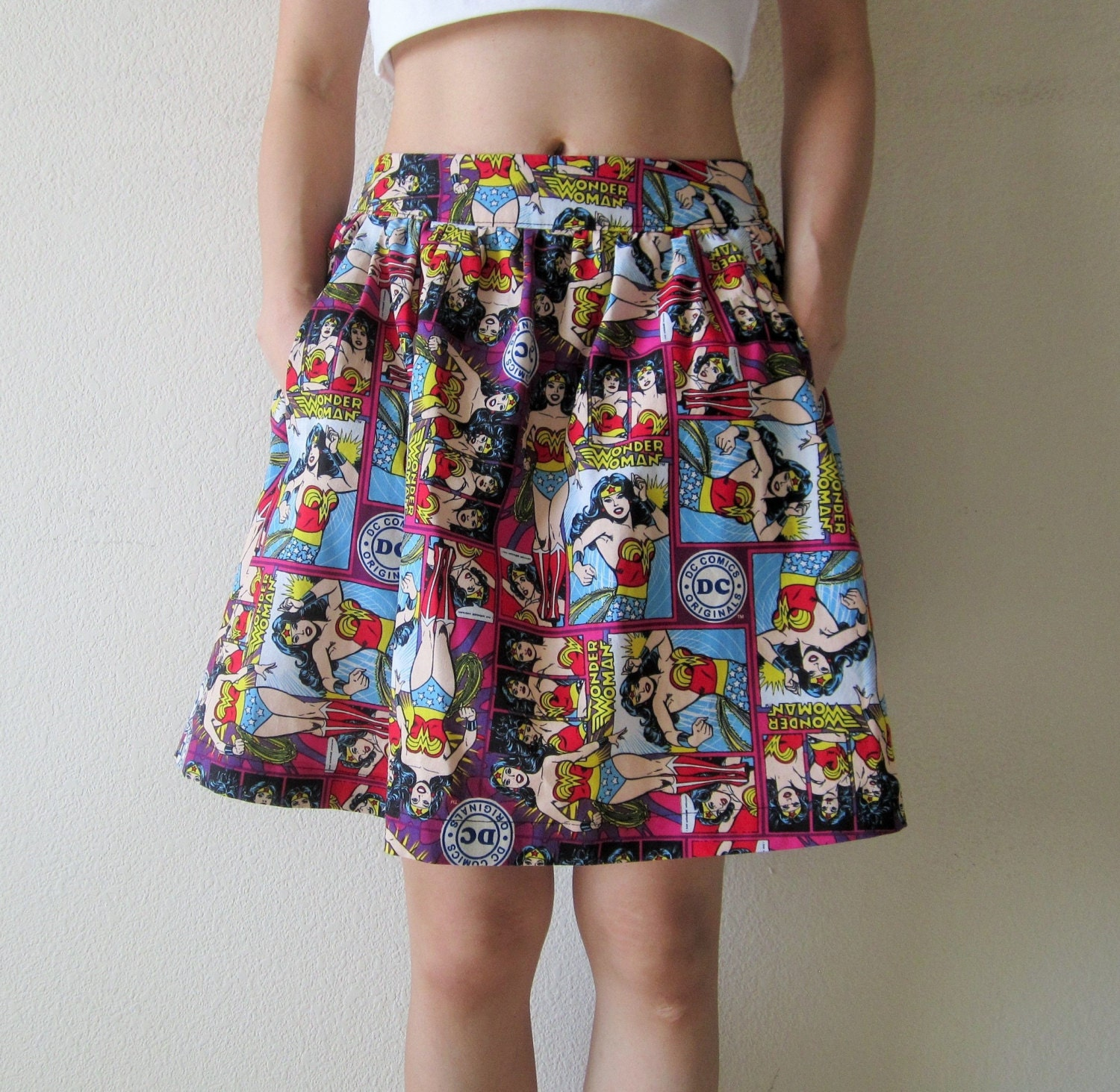 Innovative Wonder Woman Super Hero Skirt Fully Adjustable Waist Fun