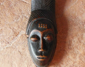 Yaure Baule Passport Mask Cote d'Ivoire African Hand Carved Wood 1*