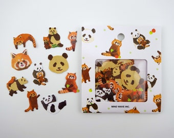 Japanese red panda sticker flakes, kawaii panda stickers, kawaii bears, red panda emoji, lesser panda stickers, red bear-cat, cute emoticons