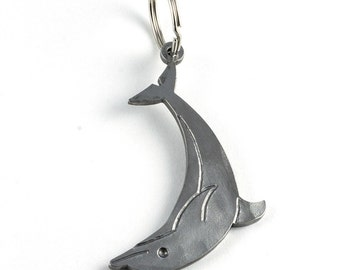 Dolphin metal keychain - gift for animal lovers - dolphin bag pendant out of metal - gift idea - animal pendant - dolphin keyring
