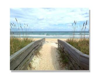 Beach Photography | Florida beach path | Ocean wall art | beach photo | east coast beach | summer beach photo | st augustine beach