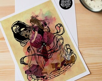 """Print """"El Pacto"""" Frame, fantasy, child, magic, witch, woman, halloween"""