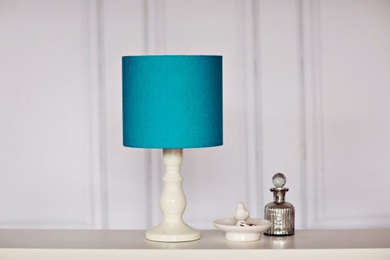 turquoise lamp shade teal lamp shade table lamp light. Black Bedroom Furniture Sets. Home Design Ideas