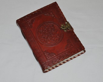 Handmade Celtic Tooled Leather Blank Journal, Diary, Sketch or Notebook Book