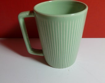 Vintage Green Ribbed Tea Cup From Japan