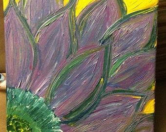 Purple Green & Yellow Flower Dreams