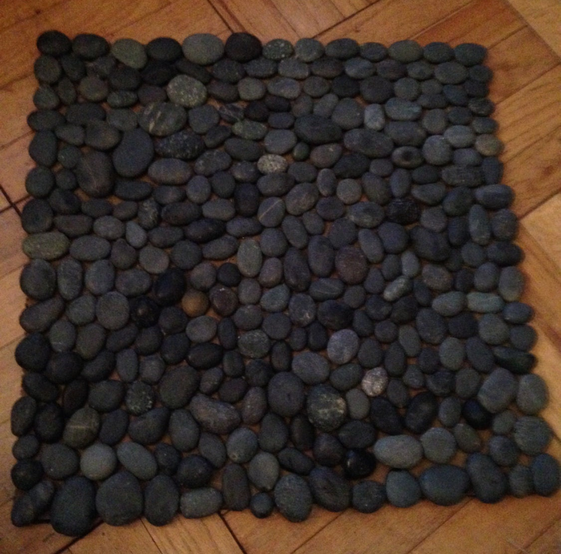 River rock door mat by thedaughterbandit on etsy for River stone doormat