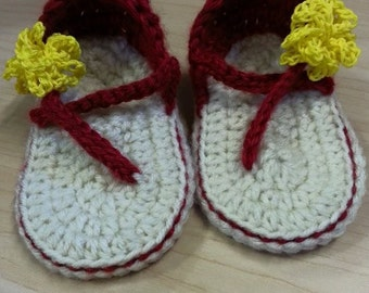 Crocheted Baby Sandals 0-6 Months