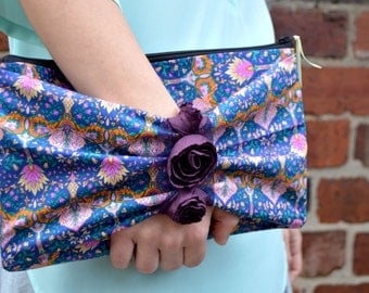 Bridesmaid gift, Bridesmaid clutch, Bridesmaid bag wedding clutch, Fabric clutch, fabric handbag, Evening clutch bag, clutch purse