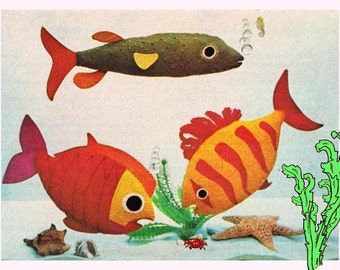 Fish pillow pattern etsy for Easy pet fish