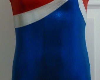 USA Girls Gymnastics Leotard - Girls Dance Leotard - Sizes: 2T, 3T, Girls 4 - 16, Adult XS - XL