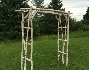 Branched White Birch Wedding Arch