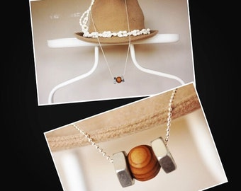 woody hex necklace